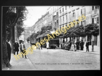 Pamplona Boulevard de Sarasate y estación del tranvía