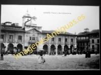 Avilés - Plaza y Ayuntamiento
