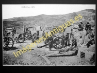 Bilbao - Batería del Diente en 1874 (situación Fabrica del Gas)