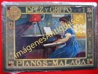 Chapa Publicitaria, Pianos Lopez y Griffo - Malaga