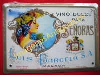 Chapa Publicitaria, Vino dulce para Señoras - Luis Barceló, S.A.