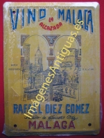 Chapa Publicitaria, Vino Malaga La Alcazaba - Malaga