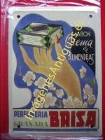 Chapa Publicitaria, Jabón y crema de almendras - Perfumería Bris