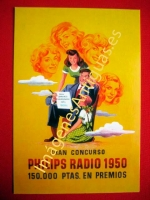 GRAN CONCURSO PHILIPS RADIO 1950
