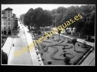 Guernica - Calle Asilo Calzada y jardines