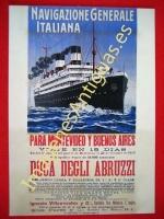NAVIGAZIONE GENERALE ITALIANA PARA MONTEVIDEO Y BUENOS AIRES
