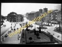 Pola de Lena - Parque y calles Generalísimo y Vital Aza
