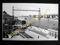 """Portugalete con regatas - Puente de Vizcaya """"Puente Colgante"""""""