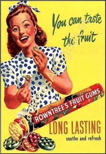 ROWNTREE'S FRUIT GUMS - YOU CAN TASTE THE FRUIT