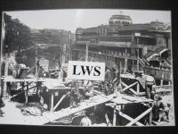 Bilbao - Reconstrucción Puente San Antón después del bombardeo