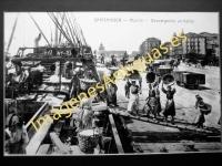 Santander - Muelle. Descargando un barco