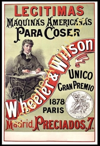 WHEELER $ WILSON LEGITIMAS MÁQUINAS AMERICANAS 1878 PARIS
