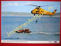 R.N.L.I. LIFEBOAT AND R.A.F. RESCUE HELICOPTER